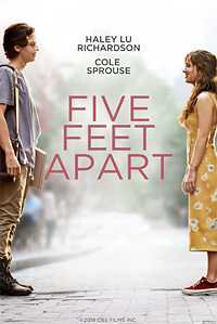 Five Feet Apart movie playing at the Wales Cinema in High River